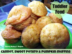 Sweet potato and pumpkin mini muffins