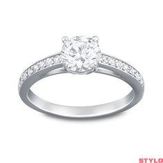 646ad4112 5cb39 8940a; real swarovski attract round crystal ring size l ernest jones  4efc4 c54e7