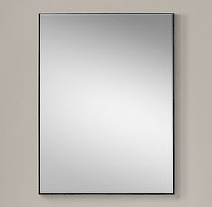 RH's Metal Floating Mirror:Our sleek metal frame has a clean finish and minimalist detail for a modern, live-anywhere sensibility.