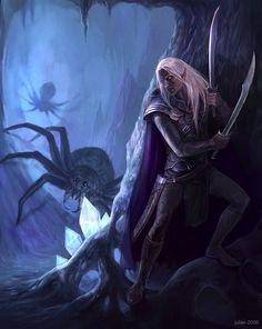 In the Cave - Drizzt Do'Urden by ~CG-Warrior on deviantART