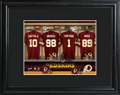 Washington Redskins Locker Room Photo