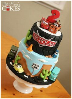 Pixar Cars Birthday Party Food 30 Ideas For 2020 Disney Cars Cake, Disney Cars Party, Disney Cakes, Disney Pixar, Pixar Cars Birthday, Themed Birthday Cakes, Boy Birthday, Birthday Ideas, Third Birthday