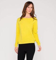Strickpullover in gelb