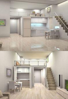 brilliant diy tiny house this year 54 Home Room Design, Small House Design, Loft Design, Modern House Design, Design Case, Home Interior Design, Best Tiny House, Small House Plans, Loft House