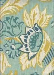 Image result for blue and green drapery fabric