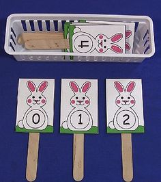 Bunny Number Sequence Sticks