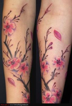 Cherry Blossom Tattoos On Shoulder | Pin Best Cherry Blossom Tattoos On Women Shoulder Japanese on ...