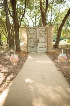 A couple's love story accompanies this aqua mint and pink, outdoor, Southern wedding with a romantic shabby chic theme.