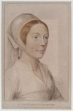 Coloured sketch, allegedly of Catherine Howard after Hans Holbein. Photo: National Portrait Gallery.