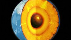 Earth on the inside. The inner core is believed to have the same temperature as the surface of the sun!