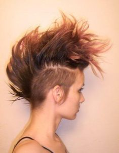 Love the natural color and fullness on top. Undercut mohawk