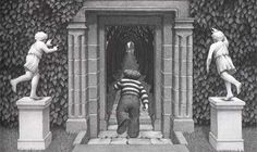 Chris Van Allsburg-  The uneasy stillness of this artist's work has always appealed to me. Great works such as Jumanji, The Garden of Abdul Gasazi, and The Polar Express. He's my hero.