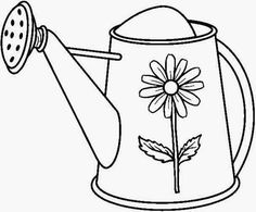 Stitchery Pattern Coloring Page Ally Loves Using Her Own Little Watering Can To Help In The Garden This Would Be So Cute For Childhood Quilt I Hope