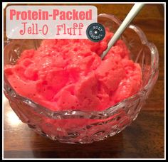 Body Remodel: Protein-Packed Jell-O Fluff 110 cals, 17g protein, 7g carbs, 0 fat The best part is that you can make it in ANY flavor! Yummy way to get more protein in.