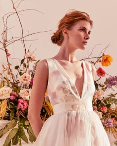 BRIDAL BOUQUET: Ted's ZOALLE dress with a tasteful take on pattern