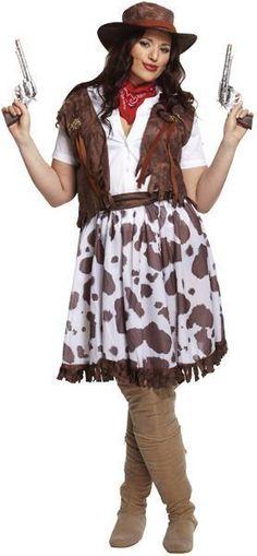 Plus Size Womans Sexy Cow Girl Adult Fancy Dress Teachers Book Week Costume XL