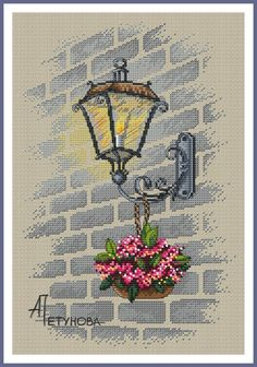 Street Light Cross Stitch Pattern, You can make really particular patterns for materials with cross stitch. Cross stitch designs can almost impress you. Cross stitch newcomers may make the designs they desire without difficulty. Cross Stitch Art, Modern Cross Stitch, Cross Stitch Flowers, Cross Stitch Designs, Cross Stitching, Cross Stitch Embroidery, Embroidery Patterns, Cross Stitch Patterns, Cross Stitch Landscape