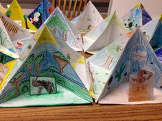 """While studying ecosystems in science, I had my 4th grade students make """"trioramas"""" of 4 different habitats. Complete with living & non-living elements."""