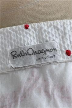 Vintage 1950s Ruth Chagnon White Cotton Pique Dress image 9