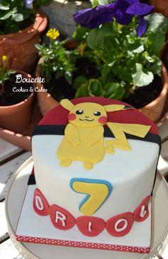Pokemon's Pikachu birthday cake.