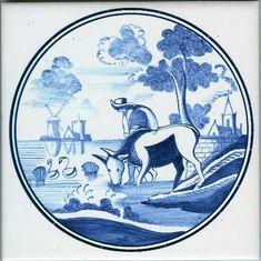 Blue delft tile