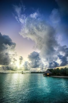 Here's a photo of the Sunset Bar at sunset! This was taken in Bora Bora. What an amazing place… I think every night there was a great sunset! I don't know what it is about those island conditions, but it was really wonderful. - French Polynesia, Bora Bora - Photo from #treyratcliff Trey Ratcliff at http://www.StuckInCustoms.com