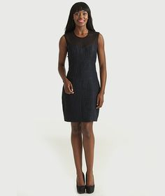 Wool and Silk Cocktail Dress - This wool silk dress is the perfect add to any wardrobe. The sweetheart bodice is feminine yet classic and you get a sexy reveal in the back as the lace reveals the back.