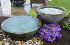 Water features, spillway bowls & patio ponds are great for small or confined outdoor spaces in Rochester New York (NY). Have it installed by a certified trained contractor (Acorn) - Contact us now!