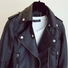 Female 2017 New Design Spring Autumn PU Leather Jacket Faux Soft Leather Coat Slim Black Rivet Zipper Motorcycle Pink Jackets Winter Jackets Women, Coats For Women, Spring Outfits Women, Faux Leather Jackets, Pu Leather, Pink Jacket, Celebrity Outfits, Leather Fashion, Types Of Sleeves