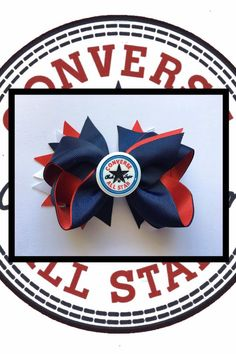 Converse Hair Bow by binspiredbylife on Etsy