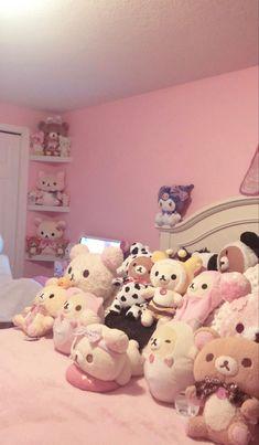 Cute Bedroom Decor, Room Ideas Bedroom, Small Room Bedroom, Bedroom Inspo, My Room, Hello Kitty Rooms, Kawaii Bedroom, Baby Pink Aesthetic, Cute Room Ideas