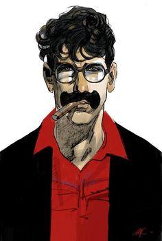 Marx or Groucho Dog? Dylan Dog, Rene Gruau, Illustration Art, Illustrations, Cool Art, Old Things, Joker, Comics, Dogs