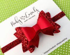 Niña/rosa arco rosa venda arco/venda del blanco por RubyLovelyShop