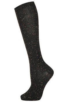 Chaussettes hauteur genou en maille fluo