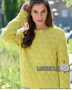 zdrm1 (554x700, 304Kb) Knitting Stitches, Knitting Patterns, Green Sweater, Lana, Knitwear, Jumper, Knit Crochet, Pullover, Womens Fashion