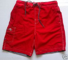 #swimwear for sale: FREE COUNTRY men swimming shorts size M red (swimwear) withing our EBAY store at  http://stores.ebay.com/esquirestore