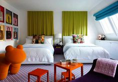 Using multi neon colors in a bedroom!