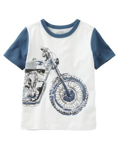 Crafted with soft cotton jersey and original graphics, these OshKosh tees are the ticket to a fun-filled outfit!
