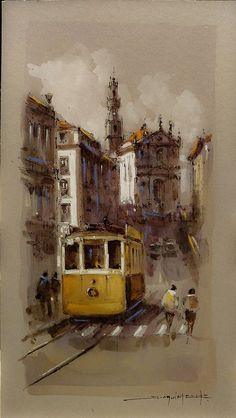 Porto City, Costa, Painting, Art, Paintings, Art Background, Painting Art, Kunst, Performing Arts