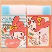 two-coloured My Melody heart Paris France scented eraser