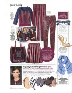 Fall Color Part 2- Inspiration from InStyle