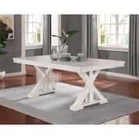 The Gray Barn Nook Rectangle Standard Height Dining Table White