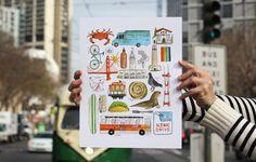 San Francisco in 23 Pieces by Lisa Congdon