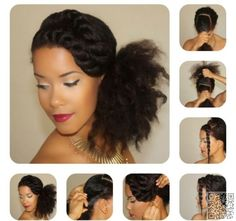 8. #Elegant Flat Twist Bang and Side Puff - 67 Crushworthy #Natural Hair Ideas from #Pinterest ... → Hair #Twist