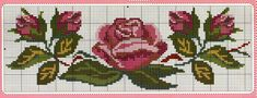 This Pin was discovered by Peo Cute Cross Stitch, Cross Stitch Borders, Cross Stitch Rose, Cross Stitch Flowers, Cross Stitch Charts, Cross Stitch Designs, Cross Stitching, Cross Stitch Embroidery, Cross Stitch Patterns