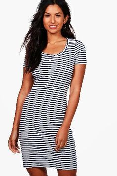 #boohoo Ribbed Button Front Bodycon Dress - royal DZZ46850 #Maya Ribbed Button Front Bodycon Dress - royal