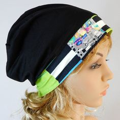 Summer beanie women Lightweight jersey beanie Slouchy summer hat Hippie hat Womens beanie Bohemian hat Women summer hat Headwear stretch S-L