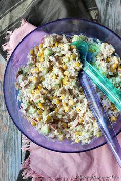 Ensalada de atún y arroz - Experimente aus meiner Küche - Tuna Rice Salad, Rice Salad Recipes, Salad Recipes Healthy Lunch, Salad Recipes For Dinner, Chicken Salad Recipes, Lunch Recipes, Healthy Lunches, Dinner Healthy, Salads For A Crowd