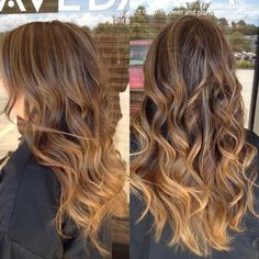 Caramel highlights fading into ombré? Want!