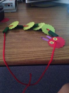 Very hungry caterpillar necklaces designed for my little kinders during or caterpillar unit